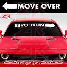Custom Move Over Universal Windshield Banner Decal Ztr Graphicz