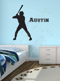Baseball Player Wall Decal Custom Name