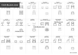 designer chairs 3 free cad blocks