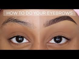 how to quick and easy eyebrow tutorial