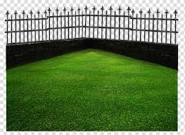 Fence Green Grass Lawn Transparent Background Png Clipart Hiclipart