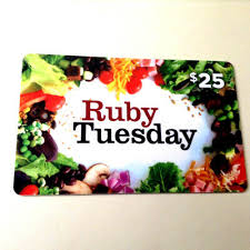 25 ruby tuesday gift card 23 50