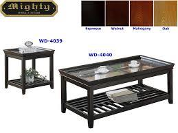 glass espresso coffee table sets