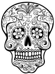 Sugar Skull Day Of The Dead Vinyl Window Decal Skull Coloring Pages Candy Skulls Sugar Skull Tattoos