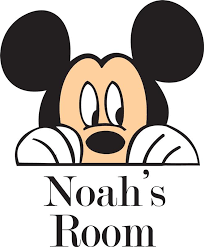 Personalized Name Vinyl Decal Sticker Custom Initial Wall Art Personalization Decor Boy Baby Nursery Mickey Mouse Disney Cartoon Character 12 Inches X 12 Inches Walmart Com Walmart Com