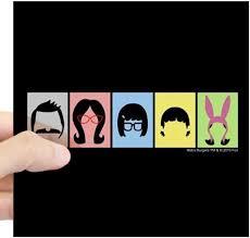 Amazon Com Cafepress Bob S Burgers Silhouettes Square Sticker 3 X 3 Square Bumper Sticker Car Decal 3 X3 Small Or 5 X5 Large Automotive