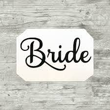 Bride Decal Bride Sticker Bride Vinyl Decal Bride Vinyl Sticker Bachelorette Party Bridal Party Gif Monogram Wedding Personalized Gifts Bridal Party Gifts