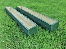 2 X 120cm Long Wooden Garden Planters Painted Cuprinol Etsy