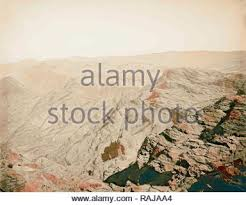 Petra. Panorama looking north and west from Mount Hor American Colony,  Jerusalem. 1898, Jordan, Petra (Extinct city Stock Photo - Alamy