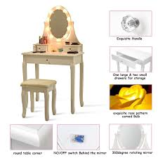 pattern led bulb mirror vanity makeup