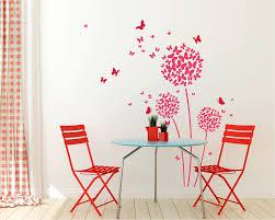 Flower Wall Decals Flower Pattern Vinyl Decals Butterfly Stickers Floral Vine Decals