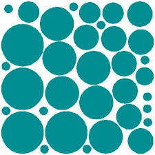 N Sunforest 34 Teal Polka Dots Vinyl Wall Decals Removable Decor Stickers Home Kitchen Baby Nursery Wall Art Mural Baby B06xj2p7nx