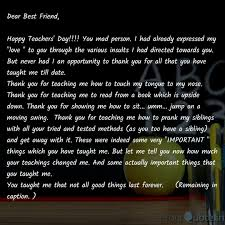dear best friend happy quotes writings by kanaka desai
