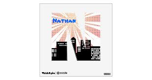 Super Hero Name Letters Comic Book Themed Kids Art Wall Decal Zazzle Com