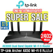 TP-LINK WIFI ROUTER Archer AX50 AX3000 Dual Band Gigabit Wi-Fi 6 Router,  Electronics, Others on Carousell