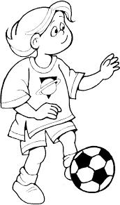 Kids N Fun Kleurplaat Voetbal Voetballen