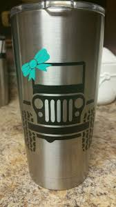 Jeep With Bow Decal Sticker Yeti Ozark Cup Yeti Cup Decal Vinyls Yeti Cup Designs Decals For Yeti Cups