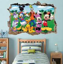 Mickey Mouse Clubhouse 3d Smashed Wall Decal Wall Sticker Art Mural Disney H795 For Sale Online