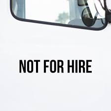 Not For Hire Decal 2 Pack Us Decals
