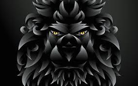 تحميل خلفيات أسد الأسود الفن 3d الإبداعية Vactor الفن الكرتون