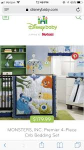 monsters inc crib bedding brand new for