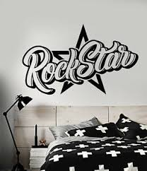 Vinyl Wall Decal Word For Rock Star Decor Teen Room Stickers 2877ig Ebay