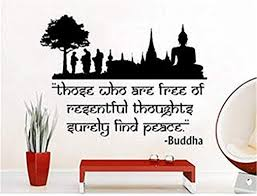 com a design world wall stickers quotes lotus flower yoga