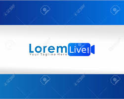 Online TV Live Streaming Logo Concept, Design Template, Blue.. Royalty Free  Cliparts, Vectors, And Stock Illustration. Image 127201433.