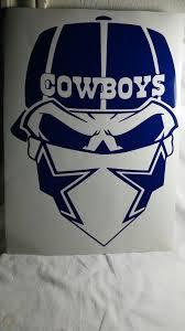 Dallas Cowboys Skull Decal Sticker Nfl Cars Trucks Football Large Decal 20 1928374407