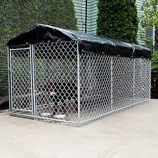 American Kennel Club 5 Ft X 10 Ft X 4 Ft High Galvanized Chainlink Dog Kennel With Roof And Waterproof Cover Cl 70103 At Tractor Supply Co