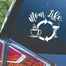 2020 15 14 5cm Mom Life Wine Coffee Quote Saying Decal Sticker For Glass Tumbler Cup Car Accessories Car Sticker From Xymy777 2 74 Dhgate Com