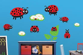 Cute Ladybug Family Wall Decal Sticker Set Wall Decal Wallmonkeys Com