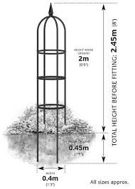 classic garden obelisk delivery by