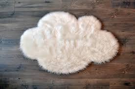 faux sheepskin white cloud area rug