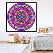 Vwaq Coloring Wall Prints Mandala Dry Erase Whiteboard Wall Decal
