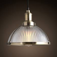 ribbed glass round dome pendant light