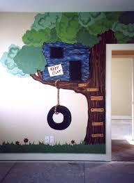Treehouse Mural Tree Mural Tree House Drawing Tree House Kids