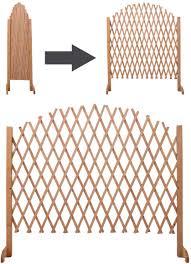Mega Product Expandable Patio Fence Wooden Screen Portable Pet Safety Gate Kid Garden Amazon Co Uk Garden Outdoors