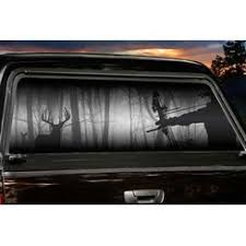 Shadow Hunter Archer Truck Window Tint Legendary Whitetails Rear Window Decals Truck Window Graphics Tinted Windows