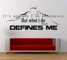Amazon Com Batman Movie Quote Vinyl Wall Art Sticker Mural Decal Home Wall Decor Dark Knight Dc Comics Film Quote Handmade