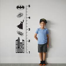 Growth Chart Decal Batman Sticker Height Chart Wall Decal Ruler Decal Nursery Decor Kids Room Decor Batman