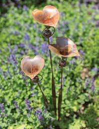 calla lily garden art stake by ancient