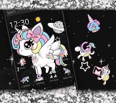 cute rainbow unicorn theme apk