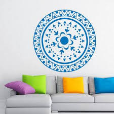 Shop Mandala Om Yoga Indian Pattern Oum Sign Vinyl Sticker Mural Bedroom Kids Room Decor Sticker Decal 22 X 22 Color Black Overstock 15382980