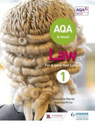 AQA A-level Law for Year 1/AS by Jacqueline Martin, Nicholas Price ...