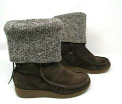 womens boots brown suede leather boots