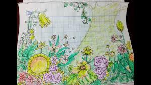 Hướng Dẫn Vẽ Tranh Vườn Hoa Xinh Đẹp/HOW TO DRAW FLOWER GARDEN FOR ...
