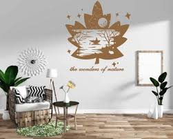 Silhouette Wall Decals Silhouette Vinyl Decals City Landscape Modern Wall Art Stickers
