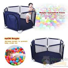 Kids Play Fence Fome Abs Pipe And Oxford Cloth Portable Game Folding Fence Safe Playgrounds Outdoor