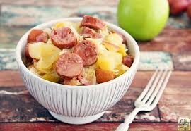 slow cooker sauer and sausage with